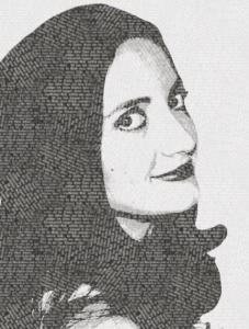 Портрет из текстовой текстуры. 2 вариант